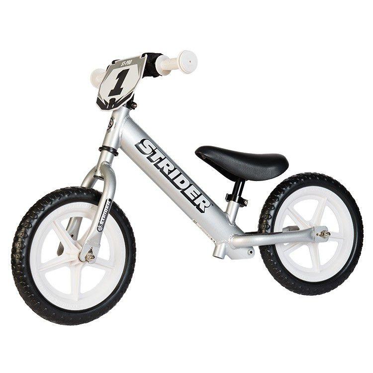 Strider® Pro 12X Silver – Bicicleta Balance Sin Pedal
