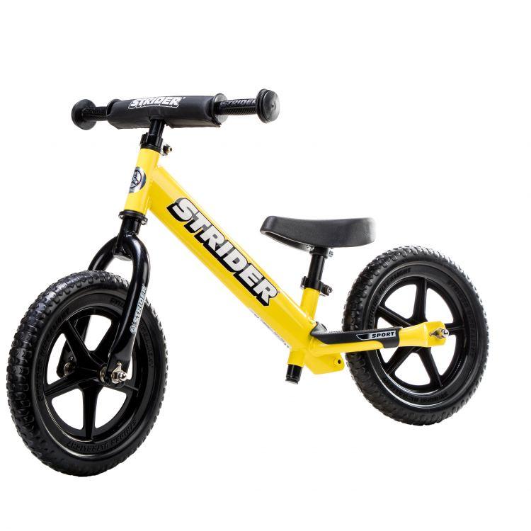 Strider 12 Sport Amarilla – Bicicleta Balance Sin Pedal