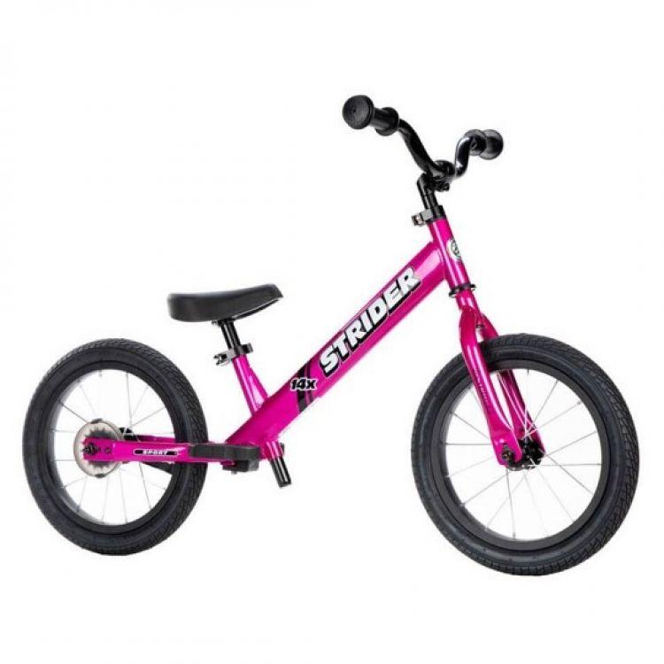 Strider® 14X Bicicleta Fucsia + Kit Pedales (Pack)