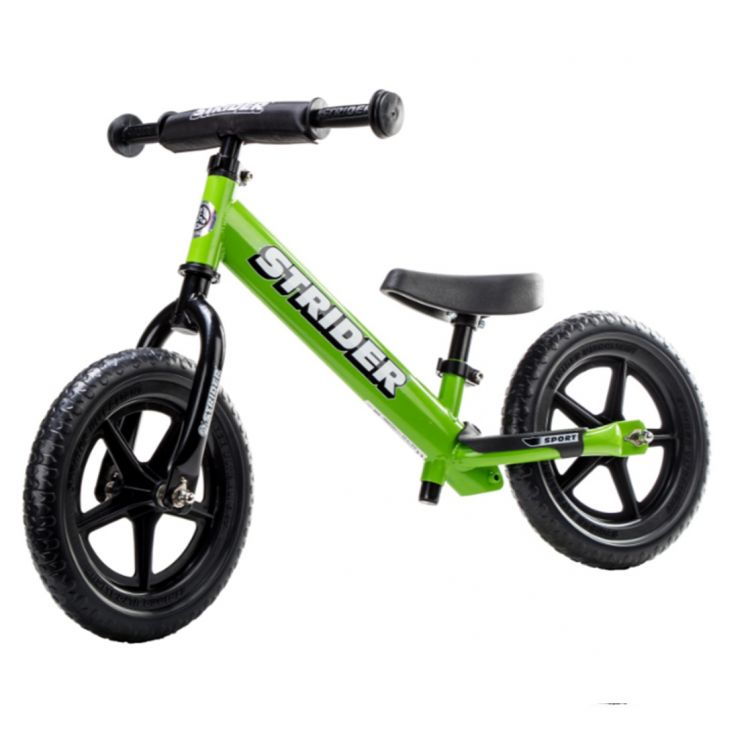Strider 12 Sport Verde – Bicicleta Balance Sin Pedal